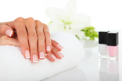 spa manicure nails